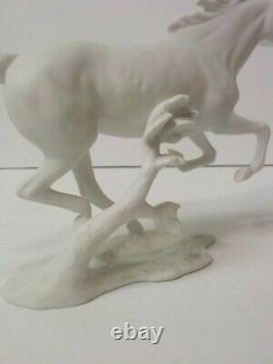 Kaiser Bachmann Galloping Horse Figurine #388, Bisque Porcelain, Signed