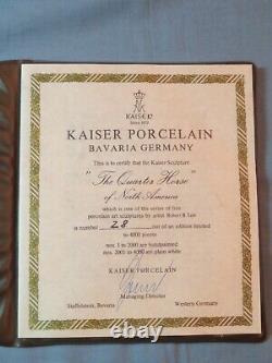 Kaiser Porcelain American Quarter Horse Figurine on Wood Base Limited Edition
