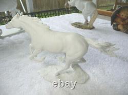 Kaiser Porcelain White Bisque Figurine Horse G. Bochmann W. Germany 1950's