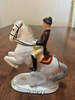 Keramos Wien Lipizzaner Horse Rider Levade 5478 Austria Porcelain Figurine Sale