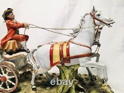 LARGE Tiche Porcelain Capodimonte Horse & Carriage Galletti Lim Ed Dresden Lace