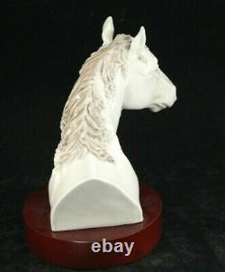 LLADRO Figurine HORSE HEAD BUST with Wooden Base 5544 Retired Alvarez