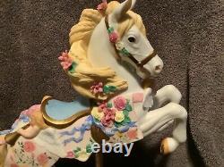 Large Lenox Porcelain Carousel Horse The Victorian Romance 1992 Limited Ed
