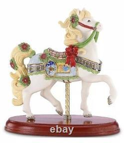 Lenox 2014 Christmas Carousel Horse Figurine Annual Poinsettias Gingerbread NEW