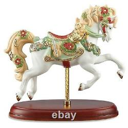 Lenox 2016 Christmas Carousel Horse Figurine Annual Jumper Violin Harp Horn NEW