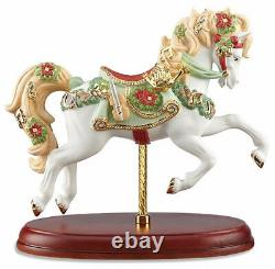Lenox 2016 Christmas Carousel Horse Figurine Limited Edition Musical Notes New