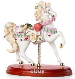 Lenox Christmas Horse Carousel Figurine 2017 Holiday Sweet Treats 866691 New