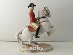 Levade Vienna Augarten Lippizzaner Horse Hans Polzer Figurines in Porcelain