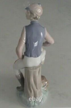 Lladro 1341 Male Jockey with horse saddle & crop LARGE & HEAVY MWOB, RV$840