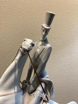 Lladro # 4515 Porcelain Figurine Retired Man On Horse ORIGINAL