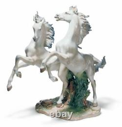 Lladro Free as The Wind Horses Sculpture. Limited Edition 01001860