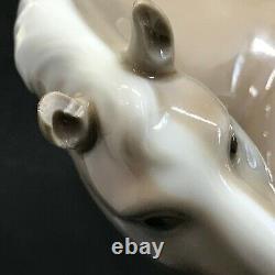 Lladro Glazed Porcelain-Percheron-Horse Figurine #4861 No Original Box