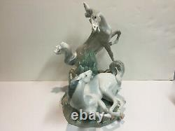 Lladro Playing Horses #01004597 Glaze, Perfect Condition