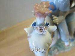 Lladro Pony Ride 6430 Kids with Puppy Dog Horse Mint in Box Rare