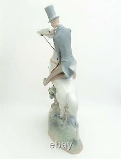 Lladro Porcelain 4515'Man on Horse' Large Figurine