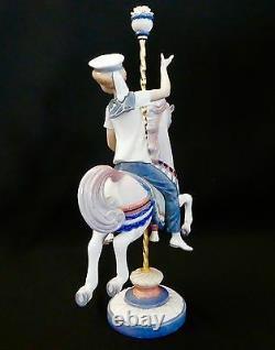 Lladró Porcelain BOY ON CAROUSEL HORSE by José Puche, #1470. 1985.15T Excellent