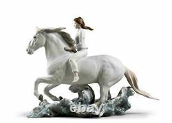 Lladro Riding Her Horse On The Seashore Figurine 01009371