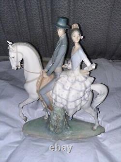 Lladro porcelain figurine #4647spanish Couple On Horse