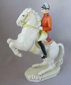 Lorenz Hutschenreuther Kunstabteilung Porcelain Lipizzaner Horse Rider Germany