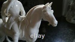 Nymphemburg Hunter and Horse Blanc Porcelain Figure Some Damage