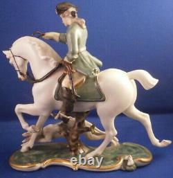 Nymphenburg Porcelain Rider Horse & Dog Figurine Figure Porzellan Figur Hunter