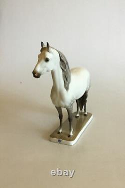 Nymphenburg Porzellan Porcelain Dapple Gray Stallion Horse Figurine