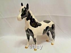 Orig Beswick England Black Piebald Pinto Pony Horse 1st Version Porcelain