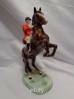 Orig Beswick England Fox Hunting Huntsman 2nd Version Horse 1952-1955