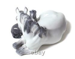Porcelain figurine Mare & Foal. Denmark, Copenhagen, Royal Copenhagen #4698