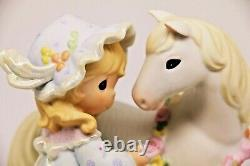 Precious Moments PEACE IN THE VALLEY 649929 LE Beautiful Girl With White Horse