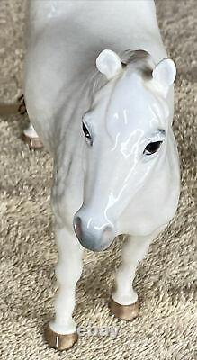 RARE White Porcelain Horse by Beswick, England Connemara No. 1641 Still With Tag