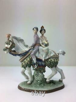 RETIRED AND NEW Valencian Couple on Horse Figurine #1472