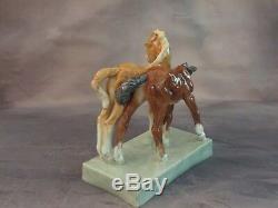 Rare Antique 1936 Royal Worcester Foals Horse Figurine By Doris Lindner #3152