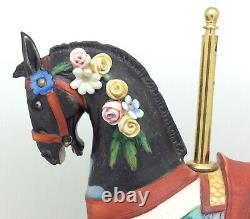 Rare Capodimonte Principe Cazzola Porcelain Carousel Horse Ltd Ed Figure 21/1000