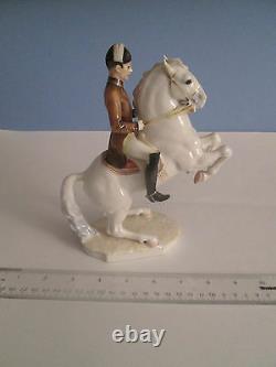 Rare Hutschenreuther Lipizzaner Horse & Rider Porcelain Figurine #2640/3 Mint