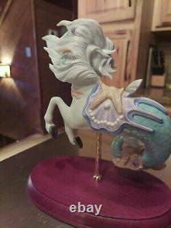 Rare! Lenox Carousel Horse Mermaid Fantasy Sea Ocean 2002