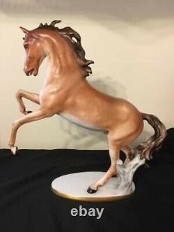 Rare Porcelain Kaiser Rearing Horse Statue by Bochmann