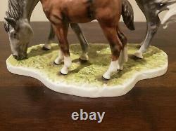 Rare Vintage 1974 Goebel Horse Mare & Foal Figurine by G. Bochmann W Germany