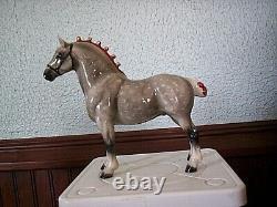 Retired Hagen Renaker Horse Draft Horse Cinco Dappled Grey Gray NOT ON A BASE