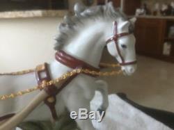 Richard Klemm German Dresden FIGURINE WOMAN ON Horse Carriage Porcelain Antique