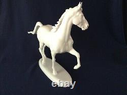 Rosenthal Large White Porcelain Trotting HORSE by Karner # 1207 Classic Rose 12