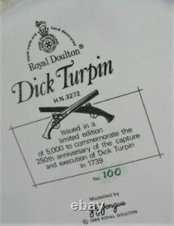 Royal Doulton figure DICK TURPIN & BLACK BESS horse Ltd Edt HN 3272 no damage