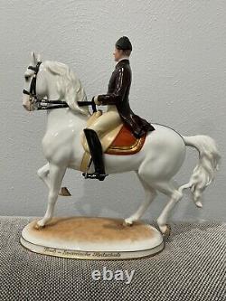 Royal Vienna Augarten Wien Porcelain Spanish Riding School Horse Figurine Trab