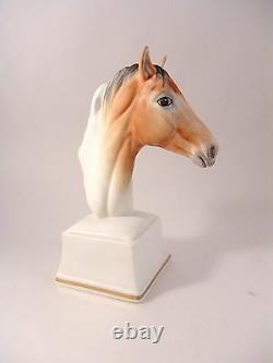 Royal Worcester Horse Head Figurine AETHON Hand Painted Porcelain English