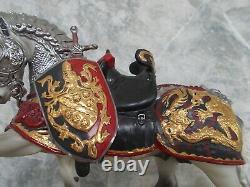 SIGNED 2005 BreyerFest Special Run Romantico Porcelain Great Horse in Armor 1250