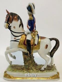 Soult On Standing Horse Scheibe-alsbach Napoleon Marshal Porcelain Broken Foot