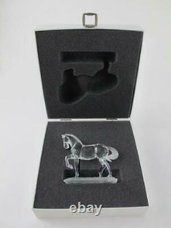Swarovski NEW Silver Crystal ARABIAN STALLION Horse Figurine 221609 Rare in Box