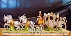 TICHE Porcelain Capodimonte 4-Horse Carriage by Giorgio Galletti. Lim Ed #31 MINT