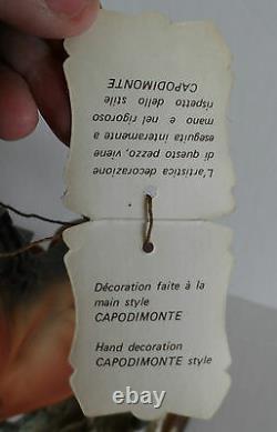 VINTAGE CAPODIMONTE REARING STALLION HORSE G GIUSEPPE ARMANI with Certificate