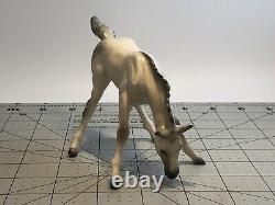 VINTAGE Horse Foal Figurine Porcelain unmarked Hagen Renaker Japan grey white
